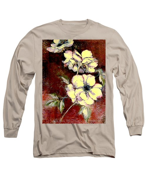 Floral Watercolor Painting Long Sleeve T-Shirt by Merton Allen