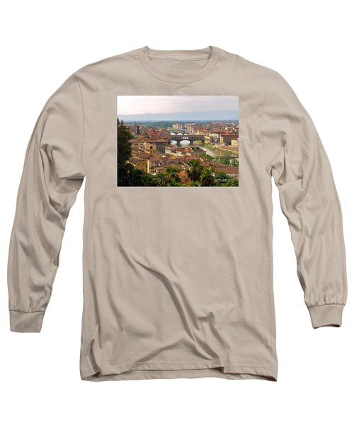 Long Sleeve T-Shirt featuring the photograph Florence Bridges by Haleh Mahbod