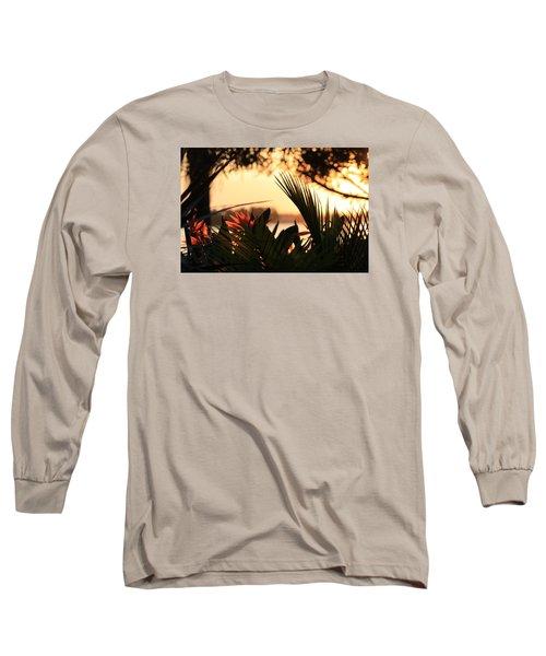 Florida Sunrise Long Sleeve T-Shirt by Diane Merkle