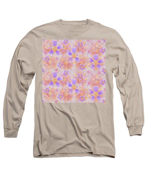 Flower Clown Pattern Long Sleeve T-Shirt