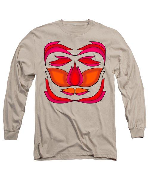 Flower Face Long Sleeve T-Shirt