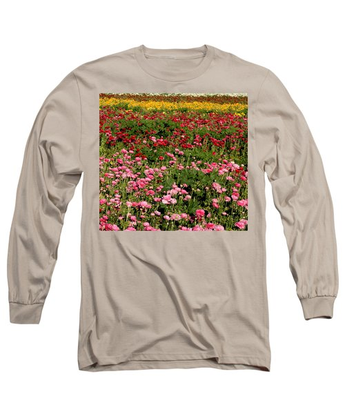 Flower Fields Long Sleeve T-Shirt by Christopher Woods