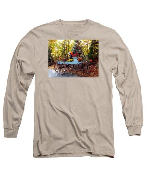 Flower Filled Wagon Long Sleeve T-Shirt