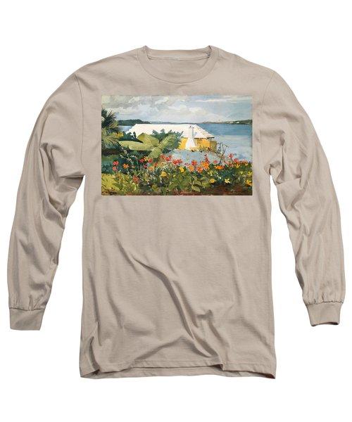 Flower Garden And Bungalow Long Sleeve T-Shirt