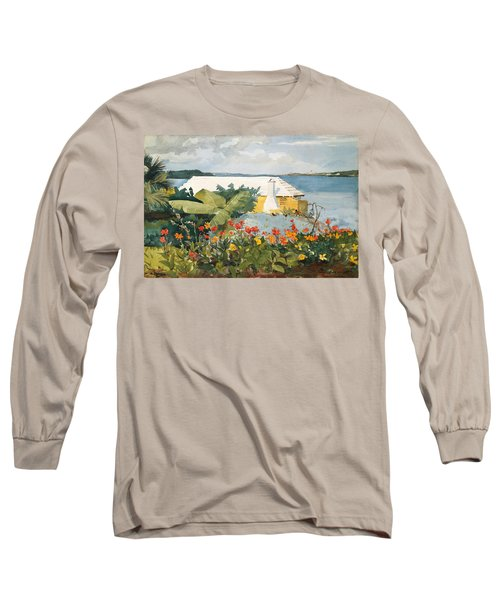 Flower Garden And Bungalow Long Sleeve T-Shirt