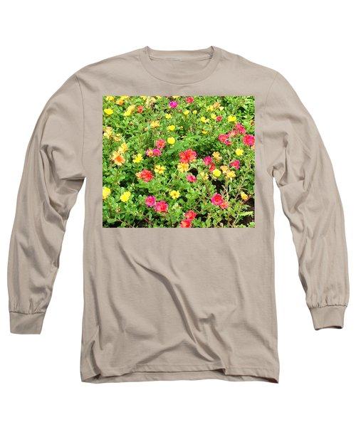 Flower Garden Long Sleeve T-Shirt by Karen Nicholson