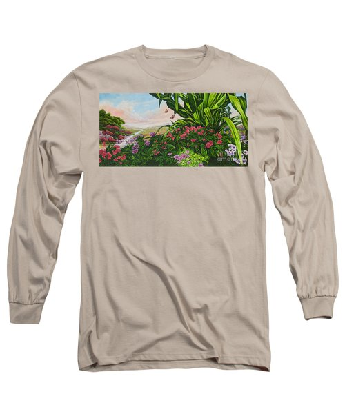 Flower Garden Vii Long Sleeve T-Shirt by Michael Frank