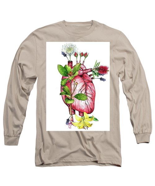 Flower Heart Long Sleeve T-Shirt