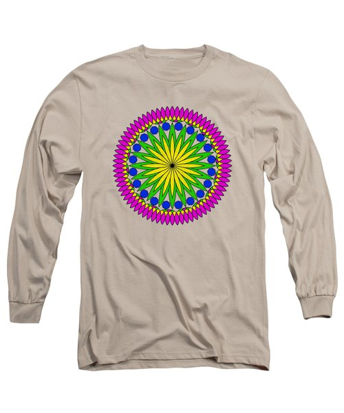 Long Sleeve T-Shirt featuring the digital art Flower Mandala By Kaye Menner by Kaye Menner