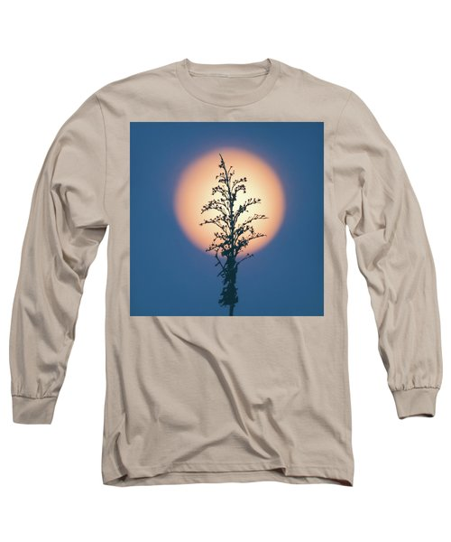 Flower Moon May 2017 Square Long Sleeve T-Shirt by Terry DeLuco