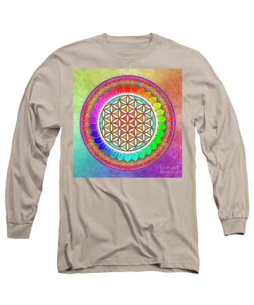 Flower Of Live - Rainbow Lotus 1 Long Sleeve T-Shirt