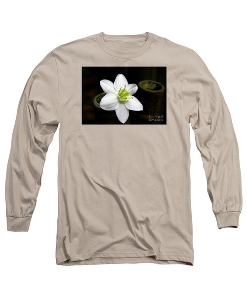 Long Sleeve T-Shirt featuring the photograph Flower On Bamboo by Lisa L Silva