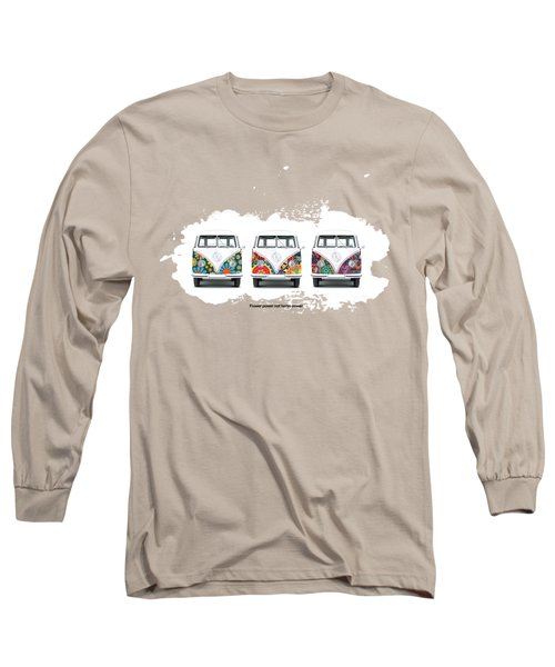 Flower Power Vw Long Sleeve T-Shirt by Mark Rogan