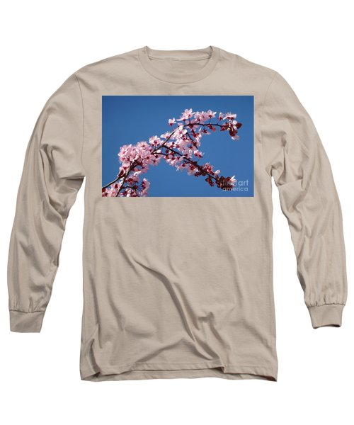 Flowering Of The Plum Tree 4 Long Sleeve T-Shirt by Jean Bernard Roussilhe