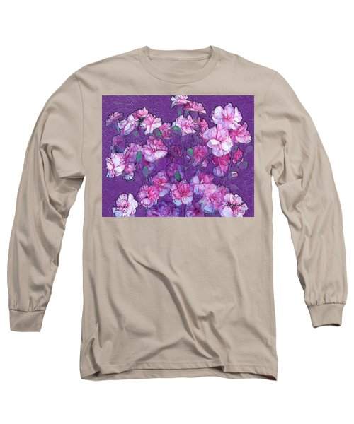 Flowers #063 Long Sleeve T-Shirt by Barbara Tristan