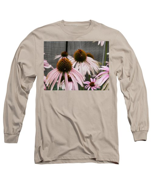 Flowers Along The Fence Long Sleeve T-Shirt