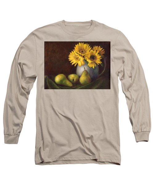 Long Sleeve T-Shirt featuring the painting Flowers And Fruit by Janet King