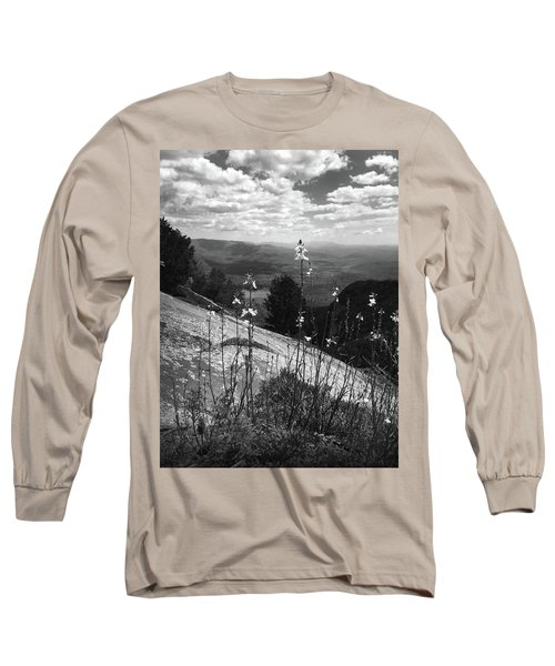 Flowers At The Top Of Table Rock Trail Long Sleeve T-Shirt by Kelly Hazel