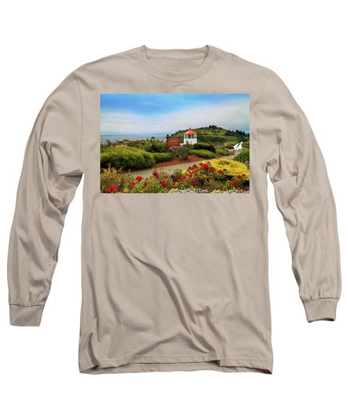 Long Sleeve T-Shirt featuring the photograph Flowers At The Trinidad Lighthouse by James Eddy