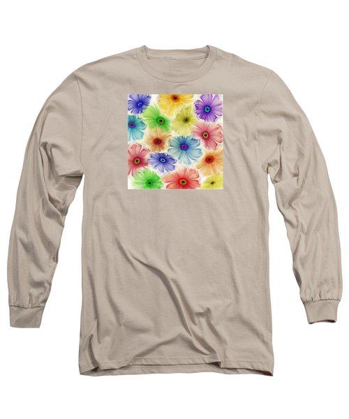 Long Sleeve T-Shirt featuring the digital art Flowers For Eternity by Klara Acel