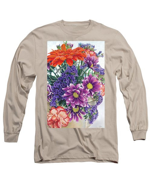 Flowers From Daughter Long Sleeve T-Shirt