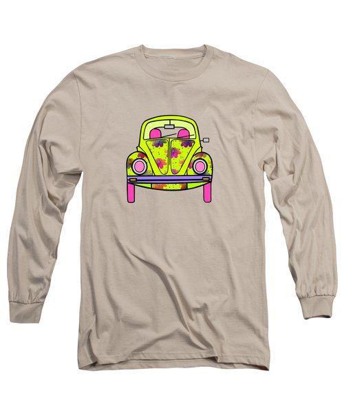 Flowers On Wheels Long Sleeve T-Shirt