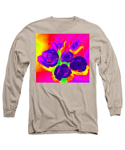 Fluorescent Roses Long Sleeve T-Shirt