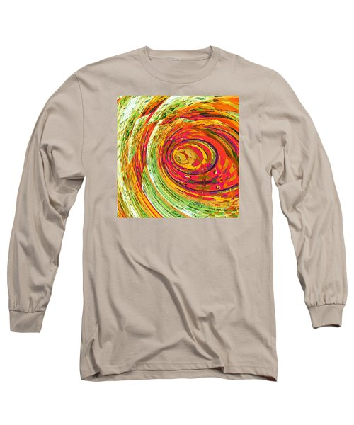 Long Sleeve T-Shirt featuring the digital art Fluorescent Wormhole by Shawna Rowe