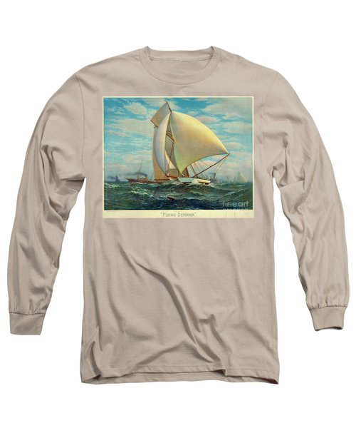 Long Sleeve T-Shirt featuring the photograph Flying Defender 1895 by Padre Art