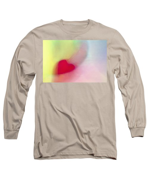 Flying Red Heart Long Sleeve T-Shirt by Susan Stone