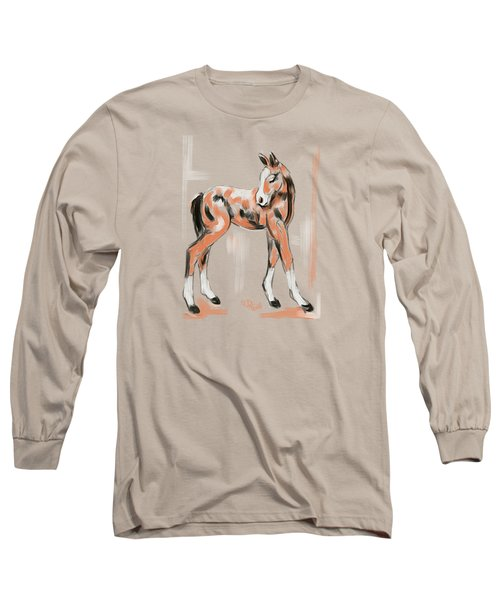 Foal Peach Long Sleeve T-Shirt
