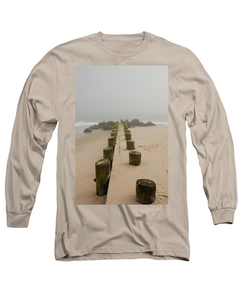 Fog Sits On Bay Head Beach - Jersey Shore Long Sleeve T-Shirt