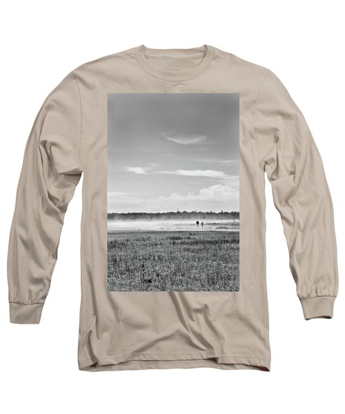 Foggy Day On A Marsh Long Sleeve T-Shirt