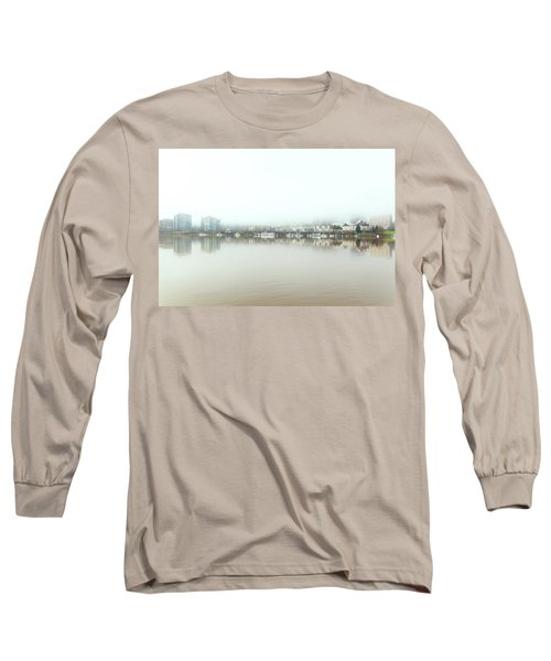 Foggy Day On Portland Downtown Waterfront Long Sleeve T-Shirt