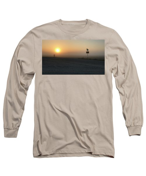 Foggy Hawkeye Sunrise  Long Sleeve T-Shirt by Jame Hayes
