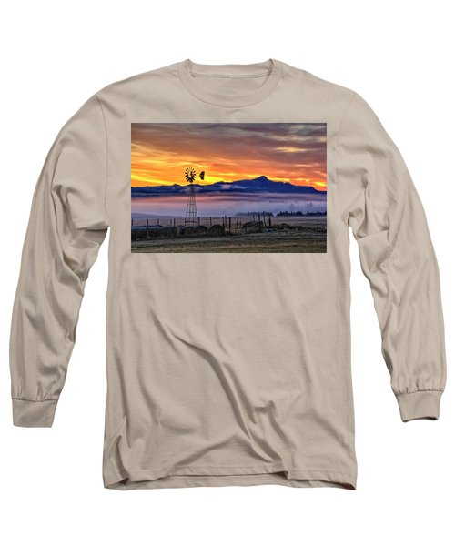 Foggy Spearfish Sunrise Long Sleeve T-Shirt