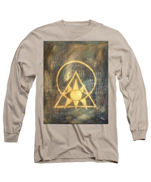 Follow The Light - Illuminati And Binary Long Sleeve T-Shirt