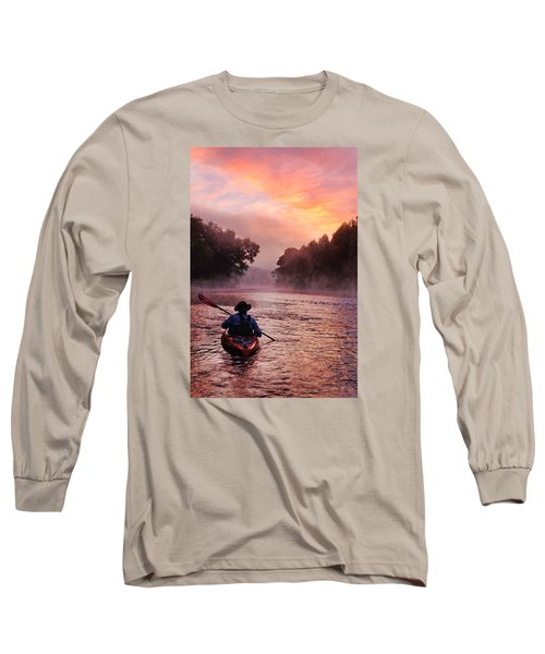 Following The Light Long Sleeve T-Shirt by Robert Charity