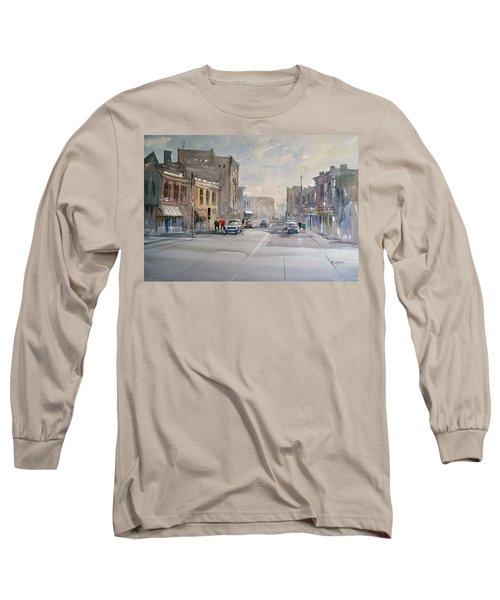 Fond Du Lac - Main Street Long Sleeve T-Shirt by Ryan Radke