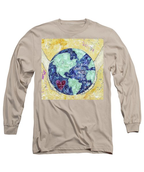 For He So Loved The World Long Sleeve T-Shirt by Kirsten Reed