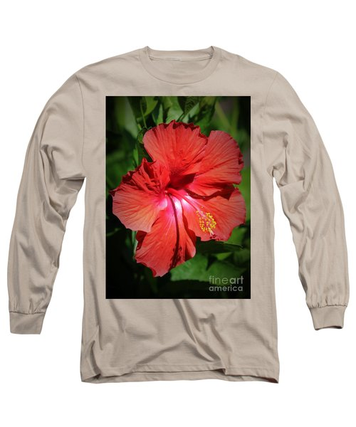 For The Love Of Hibiscus Long Sleeve T-Shirt