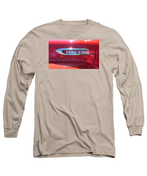 Ford F-100 Logo Long Sleeve T-Shirt by Spyder Webb