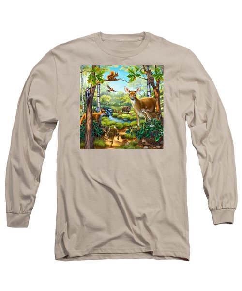 Forest Animals Long Sleeve T-Shirt