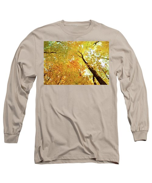 Forest Fall Yellow  Long Sleeve T-Shirt by Lyle Crump