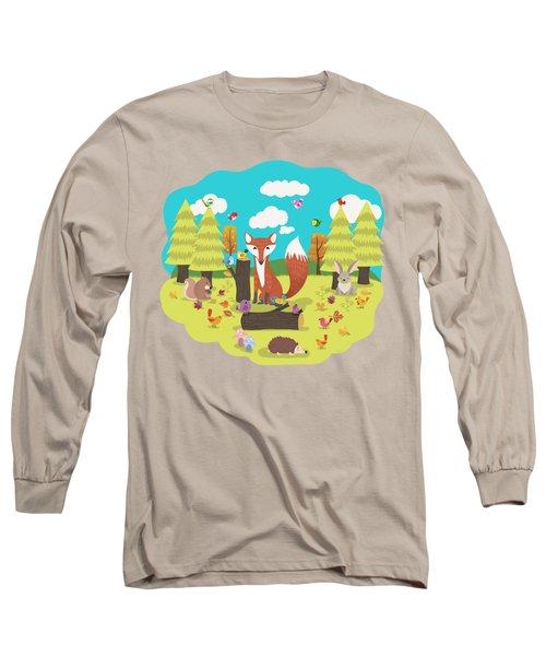 Forest Friends Fall Frolic Long Sleeve T-Shirt