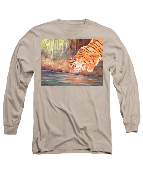 Forest Tiger Long Sleeve T-Shirt by Elizabeth Lock