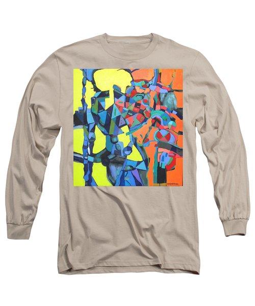 Long Sleeve T-Shirt featuring the painting Forgotten Memories Of Broken Promises by Bernard Goodman