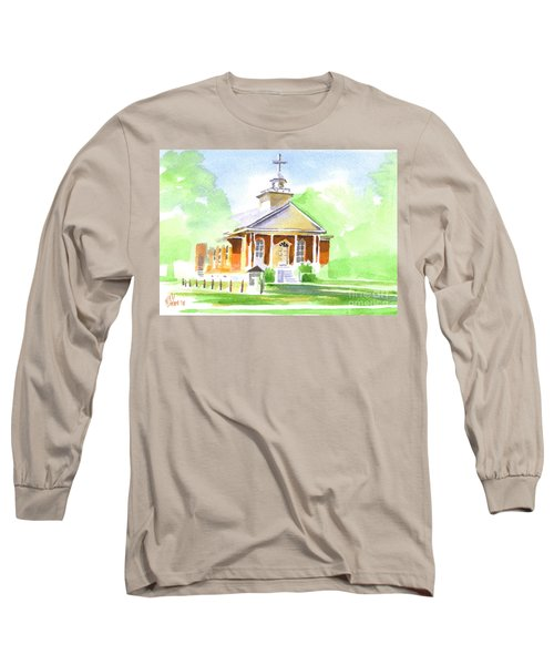 Long Sleeve T-Shirt featuring the painting Fort Hill Methodist Church 2 by Kip DeVore