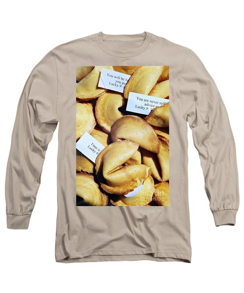 Fortune Cookie Long Sleeve T-Shirt by Vivian Krug Cotton