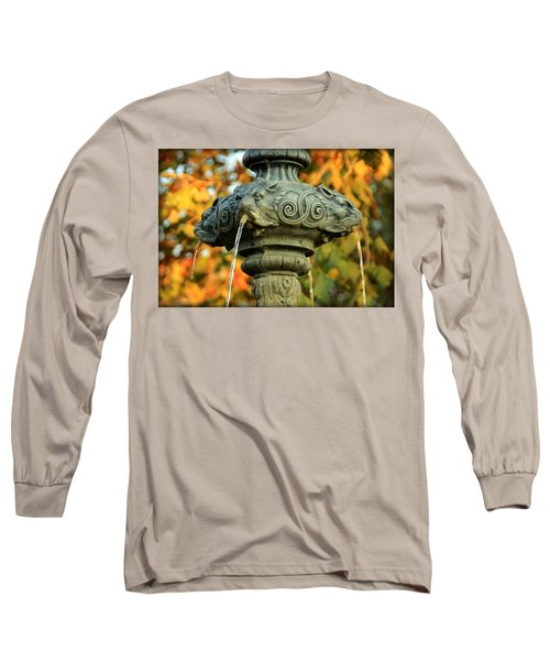 Long Sleeve T-Shirt featuring the photograph Fountain At Union Park by Chris Berry